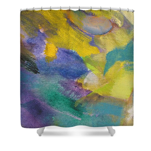 Shower Curtain featuring the painting Abstract Close Up 13 by Anita Burgermeister