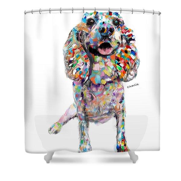 Abstract Cocker Spaniel Shower Curtain