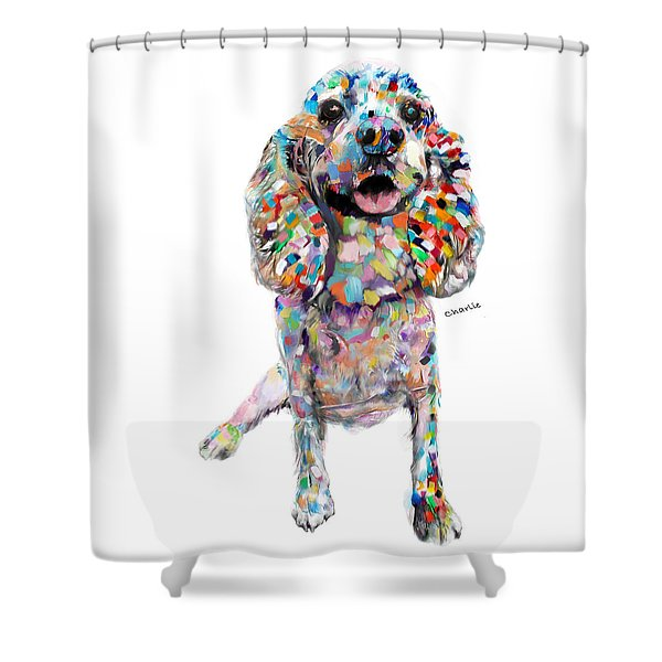 Abstract Cocker Spaniel Shower Curtain