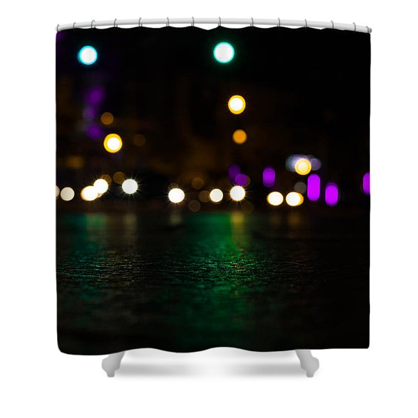 Abstract Color Shower Curtain