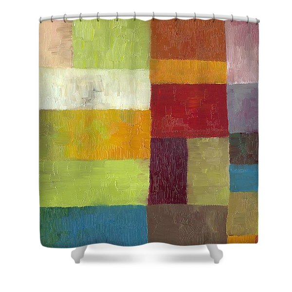 Abstract Color Study Lv Shower Curtain