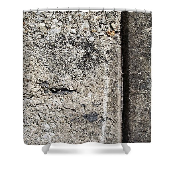 Shower Curtain featuring the photograph Abstract Concrete 16 by Anita Burgermeister