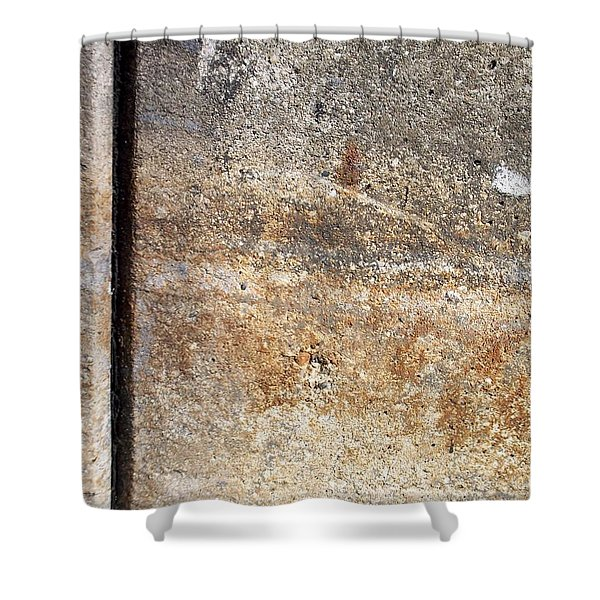 Shower Curtain featuring the photograph Abstract Concrete 17 by Anita Burgermeister