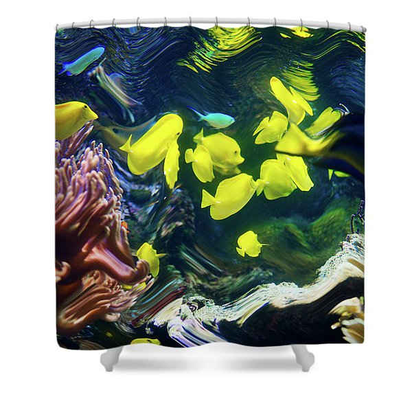 Abstract Dancing Colorful Ish Shower Curtain