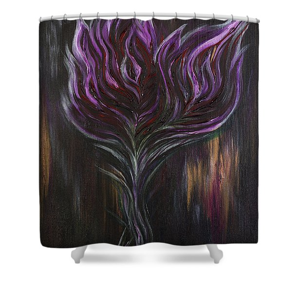Abstract Dark Rose Shower Curtain