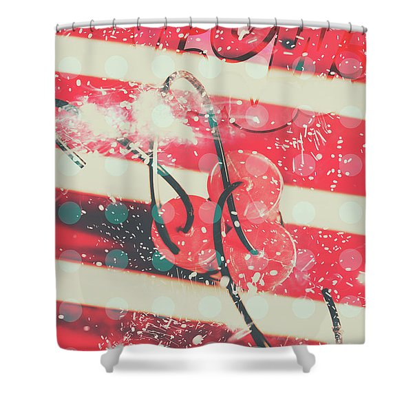 Abstract Dynamite Charge Shower Curtain