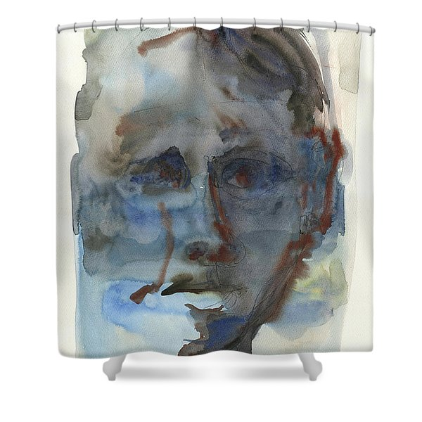 Abstract Face Shower Curtain