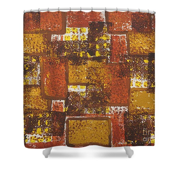 Abstract_ Fall  Shower Curtain