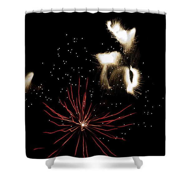 Abstract Fireworks IIi Shower Curtain