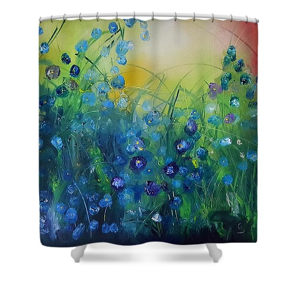 Abstract Flax           31 Shower Curtain