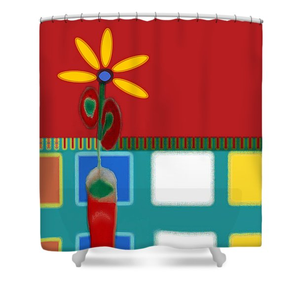 Abstract Floral Art 129 Shower Curtain