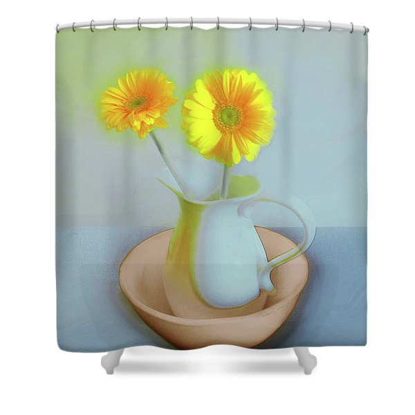 Abstract Floral Art 302 Shower Curtain