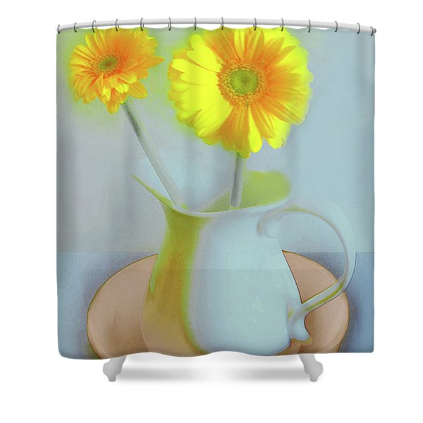 Abstract Floral Art 303 Shower Curtain