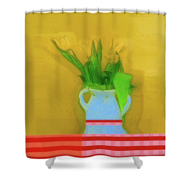 Abstract Floral Art 323 Shower Curtain