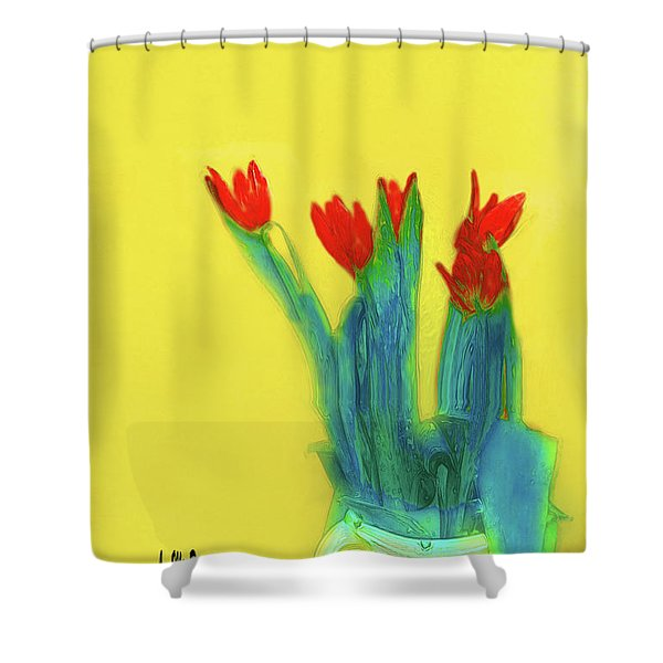 Abstract Floral Art 345 Shower Curtain
