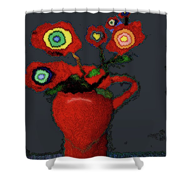 Abstract Floral Art 90 Shower Curtain