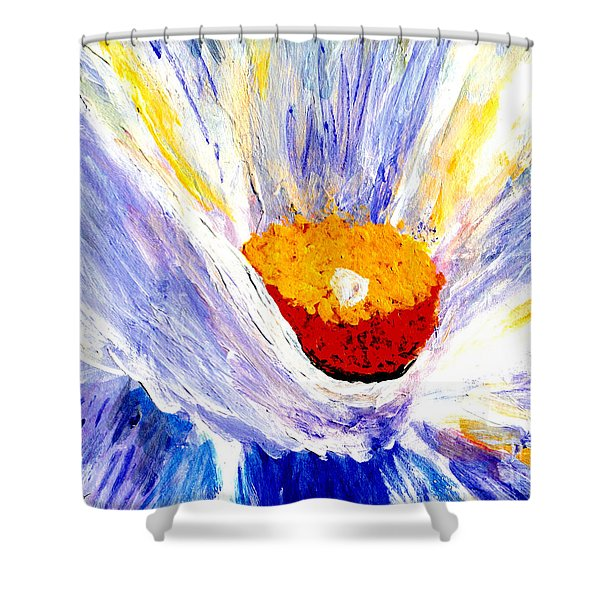 Abstract Floral Painting 001 Shower Curtain