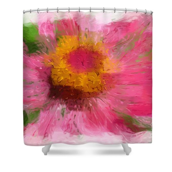 Abstract Flower Expressions Shower Curtain