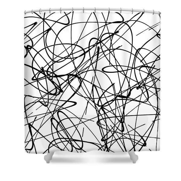 Abstract For Cave Exploration Shower Curtain