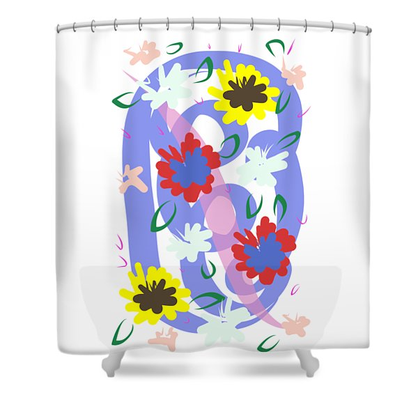 Shower Curtain featuring the digital art Abstract Garden #1 by Bee-Bee Deigner