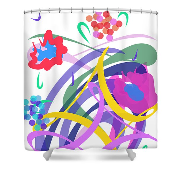Shower Curtain featuring the digital art Abstract Garden #2 by Bee-Bee Deigner