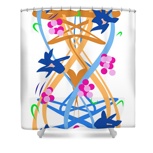 Shower Curtain featuring the digital art Abstract Garden #3 by Bee-Bee Deigner