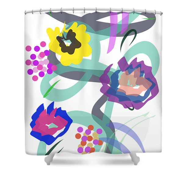 Abstract Garden Nr 4 Shower Curtain