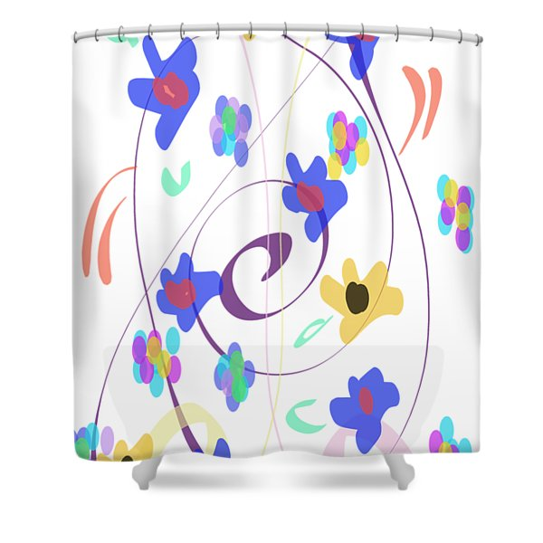 Abstract Garden Nr 7 Naif Style Shower Curtain