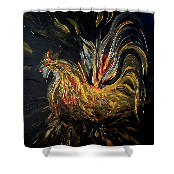 Abstract Gayu Shower Curtain