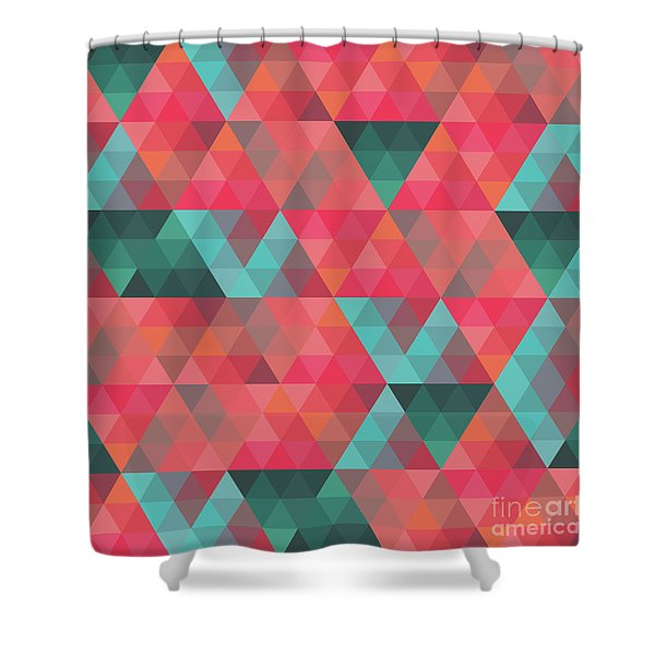 Abstract Geometric Colorful Endless Triangles Abstract Art Shower Curtain