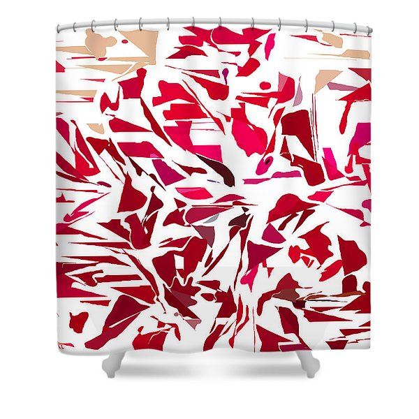 Abstract Geranium Shower Curtain