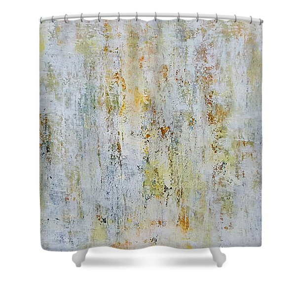 Abstract Grassland Shower Curtain