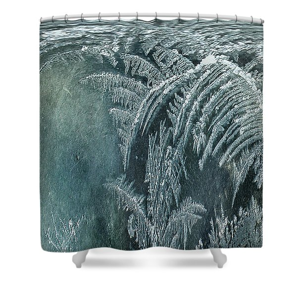 Shower Curtain featuring the digital art Abstract Ice Crystals by Robert G Kernodle