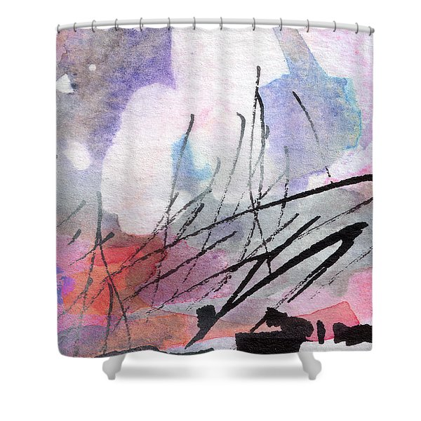 Abstract Intuitive 20161 Watercolor And Ink Shower Curtain