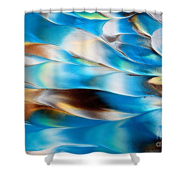 Abstract L1015al Shower Curtain
