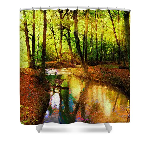 Abstract Landscape 0747 Shower Curtain