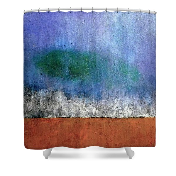Abstract Landscape #313 Shower Curtain