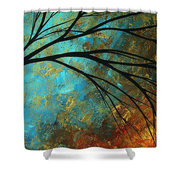 Abstract Landscape Art Passing Beauty 4 Of 5 Shower Curtain