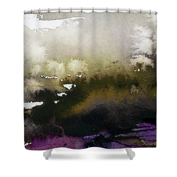 Abstract Landscape Brown Earth Shower Curtain