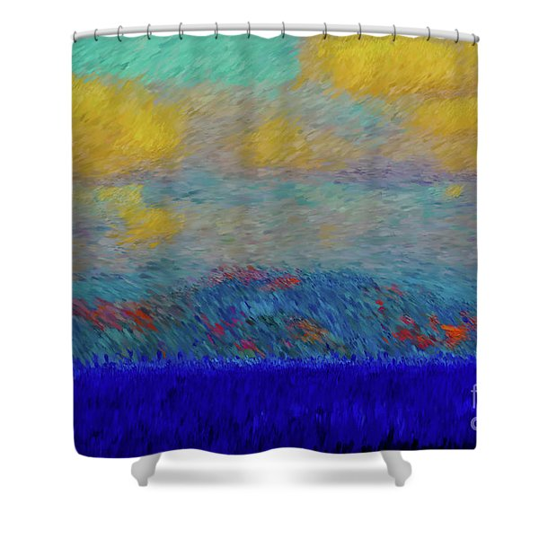 Abstract Landscape Expressions Shower Curtain