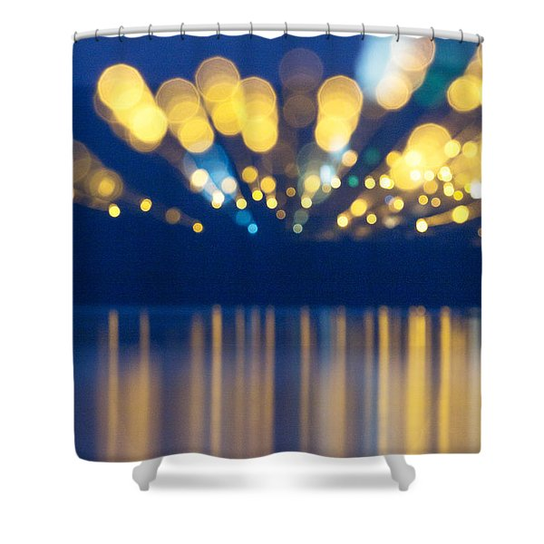 Abstract Light Texture With Mirroring Effect Shower Curtain