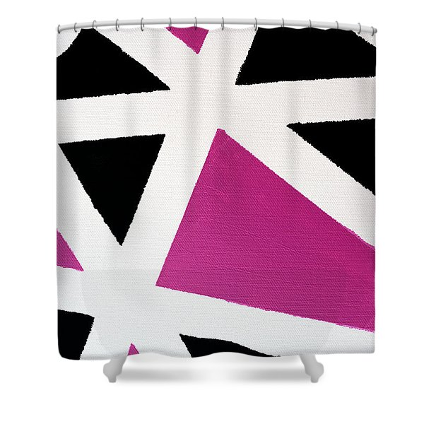 Abstract M1015bp Shower Curtain