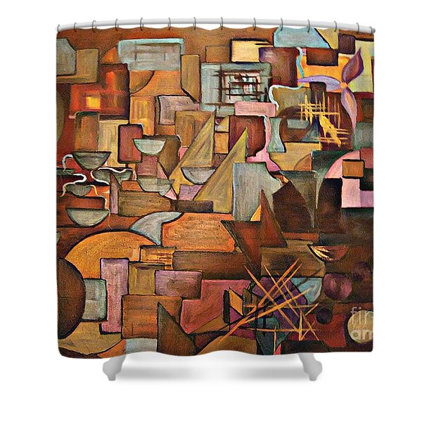 Abstract Mind Shower Curtain