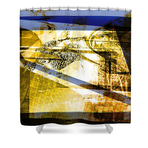 Abstract Mosaic Shower Curtain