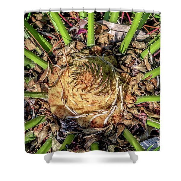 Abstract Nature Tropical Fern 2096 Shower Curtain