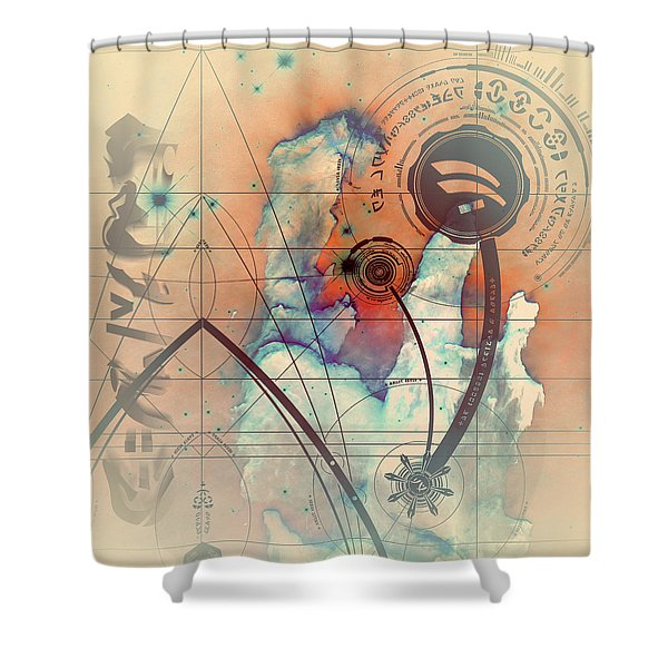 Shower Curtain featuring the digital art Abstract No 28 by Robert G Kernodle