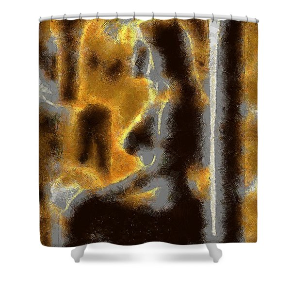 Abstract Nude Form Shower Curtain
