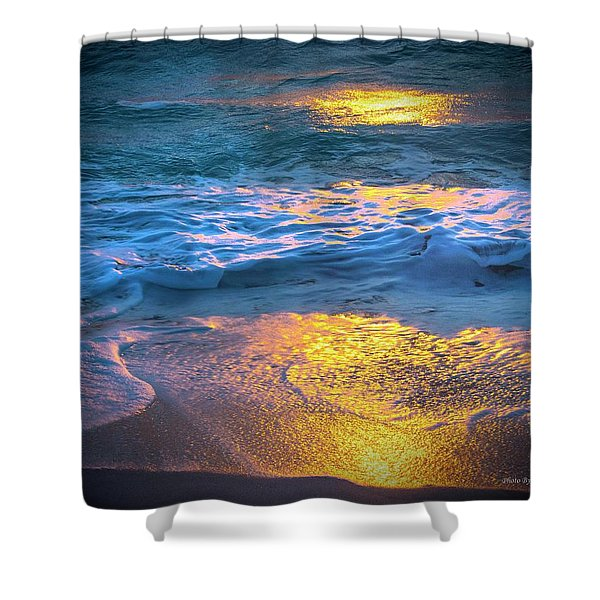 Abstract Of Beach Shower Curtain