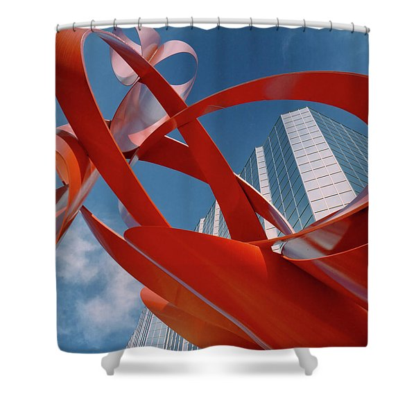 Abstract - Oklahoma City Shower Curtain
