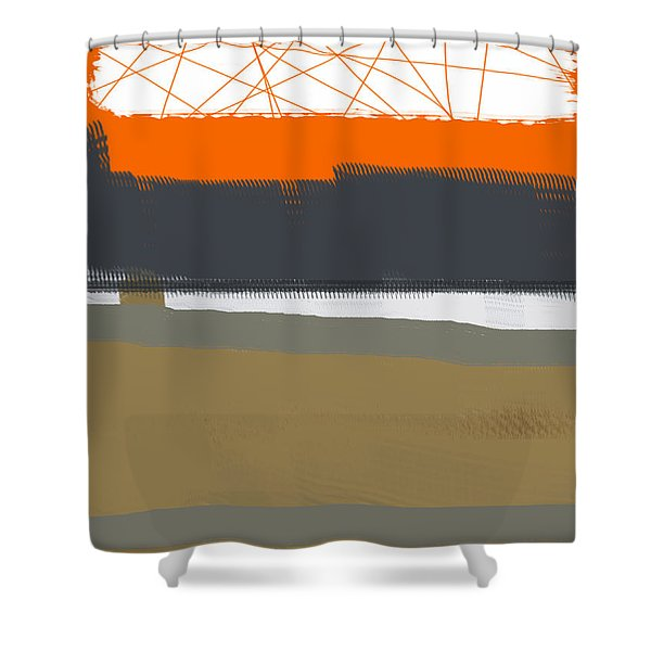 Abstract Orange 1 Shower Curtain